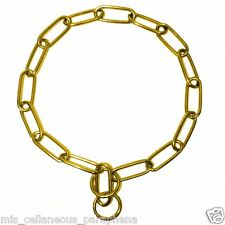 Platinum Pets 27-Inch X 4mm Coated Fur Saver Chain Training Collar Gold