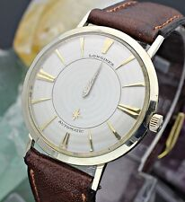 C. 1950's LONGINES Mystery Dial 10K Gold Filled Men's Dress Watch Full Set L8