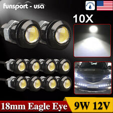 10x 18mm 9W COB White LED Eagle Eye Fog Light DRL Reverse Turn Signal Bulbs