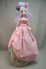 """Forgotten Hearts porcelain BJD 13"""" artist doll with wig, shoes, outfit COA 2014"""