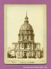 CDV FORMAT CABINET : PARIS, LE DÔME DE L'HÔTEL DES INVALIDES VERS 1880 -L138