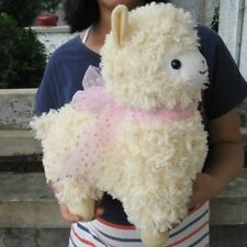 "NEW Japan Amuse Arpakasso Alpacasso yellow Alpaca 14"" Plush Doll"