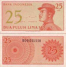Indonésie- Indonésia billet neuf de 25 sen pick 93 UNC