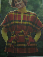 Vintage Butterick 3362 PULL-OVER WRAP PONCHO TOP Sewing Pattern Women Petite 6
