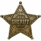 LINCOLN COUNTY SHERIFF 5 POINT STAR US BADGE WESTERN WILD WEST LAW ENFORCEMENT