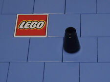 Lego 4589b 1x1 Black Cone With Top Groove X 4 NEW