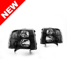 07-13 Chevy Silverado 1500 2500HD 3500HD Black Headlights w/ Smoke Reflector