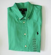 Ralph Lauren Boys Blake Poplin Short Sleeve Shirt Vineyard Green Sz XL - NWT