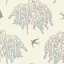 ARTHOUSE WILLOW SONG TREE LEAF PATTERN BIRD MOTIF FLORAL GLITTER WALLPAPER DUCK
