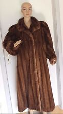 Nerz Mink visone НОРКОВАЯ Braun Pelz Mantel Coat Marrone weiches Fell soft fur