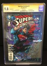 D.C. Superman Unchained #1 3D Lenticular Variant CGC Signature Jim Lee 9.8