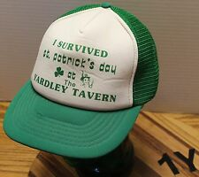 """I SURVIVED ST. PATRICKS DAY AT THE YARDLEY TAVERN"" HAT SNAPBACK VGC"