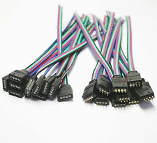 5 Pairs lots x 4-Pin Female & Male With Wire RGB Connector 3528 5050 LED Strip