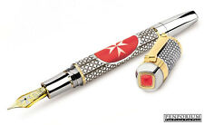 TIBALDI BY MONTEGRAPPA SOVEREIGN MILITARY ORDER OF MALTA FOUNTAIN PEN FINE