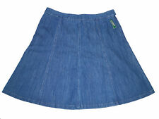 NEW LL Bean 18 Denim A-line Skirt Gored Jean Cotton NWT