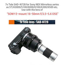 Tele lens for Sony Alpha A5000 & A6000 series with 16-50mm lens