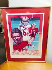 JOE MONTANA 49ers & Artist Ron Lewis RARE Signed Auto 18x24 Framed Litho COA WOW