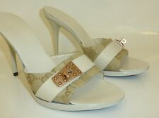 GUCCI GG LOGO / LOCK SLIP ON MULES / SHOES SIZE 3 36 BOXED