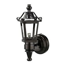 Dollhouse Light LED lithium Battery Operated Black Nickel Coach Lamp  HW2324