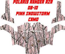 Polaris ranger rzr 08-10 side X side PINK SNOW STORM camo Wrap Decal Sticker kit