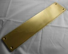 """POLISHED SOLID CAST BRASS 11"""" FINGER PLATE 284 x 60 x 6.5mm, NOT PLATED"""