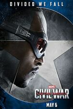 Captain America Civil War Movie Poster (24x36) - Anthony Mackie, Falcon v6