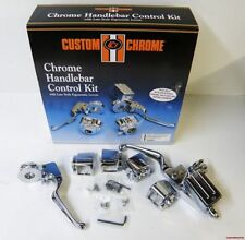 CHROME HANDLEBAR CONTROL KIT 5/8 FOR SINGLE DISC HARLEY 84-95 NO SWITCHES