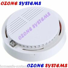 HOME OFFICE RESTAURANT CORDLESS WIRELESS FIRE SMOKE DETECTOR SENSOR ALERT ALARM