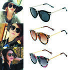 Fashion Women Sunglasses Round Glass Retro Plastic Frame Arrow Glasses Eyewear