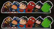 2x Marvel Avengers Dc Universe voiture decal sticker autocollant Fenêtre pare-chocs super-héros