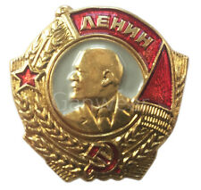 Soviet USSR Order Of Lenin National Award Russian Brass Mini Medal Pin Badge