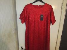 SIZE 16  REGULAR  RED SEQUIN EMBELLISHED DRESS PARTY TIME MARKS AND SPENCER