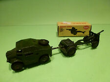 DINKY TOYS 686 687 688 TRUCK + TRAILER + 25-POUNDER FIELD GUN - ARMY MILITARY