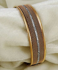 Pure Copper Unisex Arthritis Joint Pain Healing Armband Cuff Adjustable Bracelet