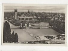 Muenchen Deutsches Museum a Isar Germany Vintage RP Postcard 848a