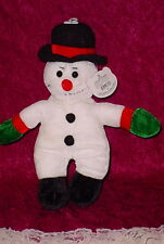 CUDDLY COUSINS ** SNOWMAM/BLACK HAT ** WHITE * SO CUTE ** 12  INCHES ** NEW **