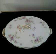 Theodore Haviland Limoges France Antique Covered Vegetable Casserole China Dish