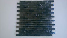 Black Crystal glass / ceramic mosaic tiles - Kitchen splash back/Feature walls