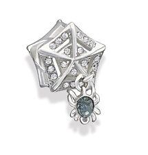 Authentic Chamilia SPIDER WEB .925 Sterling Silver European Charm Bead