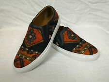 100% Authentic GIVENCHY Persian Rug Carpet Plaid Wool Skate Shoes Sneakers 40.5