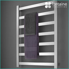 Heated Towel Rail Ladder Large Square Stainless Steel Electric Warm Plug Power