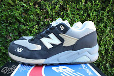 NEW BALANCE 580 SZ 9 WHITE ANTHRACITE BURN RUBBER WHITE COLLAR MT580WC