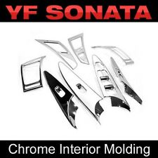 Chrome Air Vent Window Switch Molding Cover 8p For HYUNDAI 2011-14 Sonata YF i45