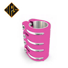 HPS PRO SCOOTER PINK 4 BOLT QUAD CLAMP FOR STANDARD SIZE BARS ONLY STUNT