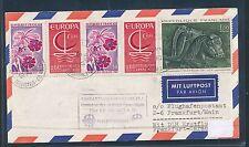 95126) LH FF Frankfurt - Caracas 2.6.71, Brief ab Frankreich Strasbourg