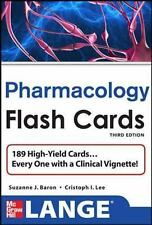 Lange Pharmacology Flash Cards by Suzanne Baron and Christopher Lee (2013,...