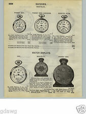 1932 PAPER AD Westclox Pocket Watch Ben Dax Sessions Roamer Bell Boy