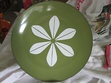 """VINTAGE GREEN CATHRINEHOLM PLATE CHARGER 12"""" LOTUS PATTERN"""