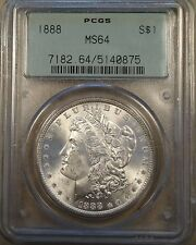 1888 Morgan Dollar Scarce PCGS MS64 3.5 Holder for Slab Collectors! PQ coin
