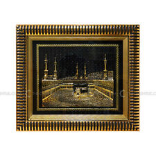 3D Kaba Model Gold Black Islamic Wall Hanging Frame Turkish 33x29cm Eid Gift